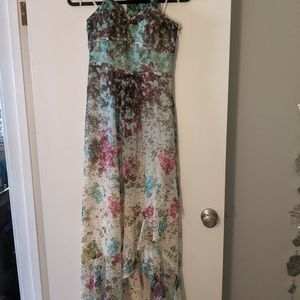Guess long gown with ruffled slit